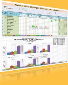 Aplikasi Absensi Siswa SD Plus Grafik Per Semester (1 dan 2)