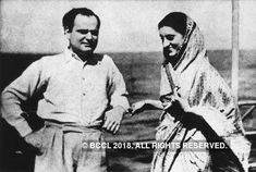 Indira Gandhi seen in a jovial mood with her husband Feroze Gandhi, at a sea shore in Bombay in this 1942 photo. Rare Pictures, Rare Photos, Vintage Photos, Indira Gandhi, History Of India, History Photos, Mystery Of History, History Mysteries, Rajiv Gandhi