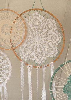 Crochet Dream Catcher Bohemian Wall Décor