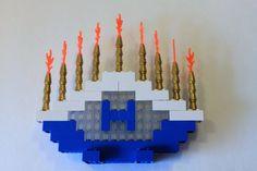 LEGO Happy Hanukkah Gift kit.  LEGO Menorah (Hanukkiah, Hanukiah) Kit