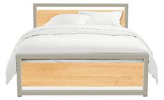 piper wood panel bed can be trimmed in 14 different colors (and with choice of 3 woods)