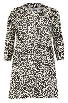 Exclusively by Samya - Tunic Dress - Leopard Print - A line - Scoop Neckline  - Sleeves - Made from a lightweight material. 199f707db