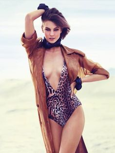Swimsuit Clad Karlie Kloss Poses for Miguel Reveriego in Vogue Turkey June 2013   Fashion Gone Rogue: The Latest in Editorials and Campaigns