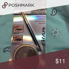 Milani Constellation Cream Eyeliner #05 Celestial Limited Edition glitter overspray, shimmer thru and thru Milani Makeup Eyeliner
