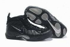 mens air foamposites pro shoes all black 27434