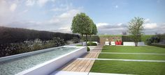 #Moderne tuin #tuinontwerp #tuinaanleg #tuinarchitectengroep_eco #garden #design Oost-Vlaanderen west-Vlaanderen Antwerpen kust Brussel #garden #architecture #tuin #tuinaanleg #tuinarchitect #gardendesign #3D #archviz #strakke tuin #Timothy Cools #vijver #modern