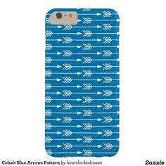 Cobalt Blue Arrows Pattern Barely There iPhone 6 Plus Case
