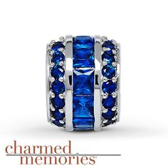 Charmed Memories Blue Cubic Zirconia Sterling Silver Charm