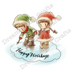 Rubber Stamps, Card Making & Scrapbooking Free Digital Scrapbooking, Scrapbooking Layouts, Toddler Drawing, Wedding Drawing, Scrapbook Quotes, Christmas Characters, Christmas Drawing, Scrapbook Supplies, Cute Illustration