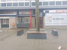 Betonbank DeLuxe Antraciet bij Basisschool De Hoeven in Beuningen