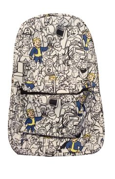 Fallout Game Poster Style Sublimated Full Size Backpack Bag New Licensed!   Bioworld  Backpack 1a036d65cdf25