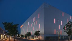Zumtobel - Façades and architecture Facade Lighting, Lighting Design, Outdoor Stage, Light Architecture, Lighting Solutions, Fair Grounds, Exterior, Switzerland, Projects