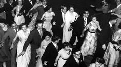 1950s Melbourne: Photos give a revealing insight into everyday life in Melbourne in the 1950s | Herald Sun 1954: This dance craze called the Roo Roo Kangaroo was introduced in Victoria at Ormond Hall. Picture: Herald Sun Image Library/ARGUS