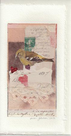 Sparrow bearing hearts by susan j 2000, via Flickr