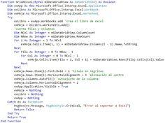 VBpuntoNet: Exportar un DataGridView a Excel