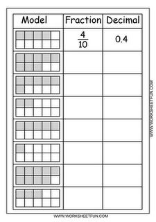 Fraction - Decimal; like the idea of a 3-column chart but would need ...