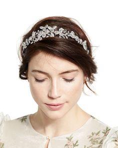D15UM Jennifer Behr Clementine Crystal Circlet Headband