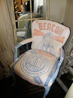 Upholstered feedsack chair - MSI