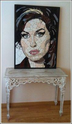 Made from hundreds of tiny tiles fragments. - Amy Winehouse Photo (37354044) - Fanpop