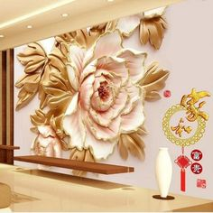 Beibehang custom wall 3d Chinese Peony flowers 3D wallpaper papel de parede wallpaper for walls 3 d wall papers home decor