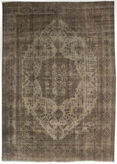 Hand-knotted Persian Vogue Dark Brown, Light Gray Wool Rug