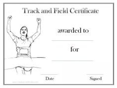 track and field certificate templates free customizable creative certificates