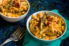 Chipotle Mac & Cheese With Roasted Brussel Sprouts