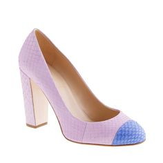 J.Crew Collection Etta snakeskin cap toe pumps. I think I need these.