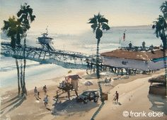 Frank Eber : Original watercolor landscape paintings : The California, USA gallery