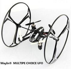 WayIn® Multiple Choice UFO 4-en-1 RC Quadcopter 3D tirón 2,4 GHz RC Dron/ Coche con cámara HD - http://www.midronepro.com/producto/wayin-multiple-choice-ufo-4-en-1-rc-quadcopter-3d-tiron-24-ghz-rc-dron-coche-con-camara-hd/