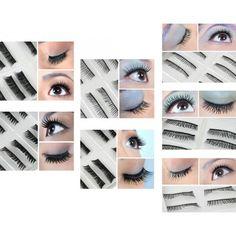 70 Pairs Fake / False Eyelashes - 7 Different Styles