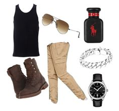 """motorcycle"" by claire-barfuss on Polyvore featuring Durango, Simplex Apparel, 21 Men, Ralph Lauren, Tom Wood, Ray-Ban, Tissot, men's fashion et menswear"