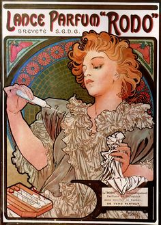 Lance Parfum 'Rodo' by Alphonse Mucha (Czech, 1860-1839)