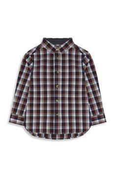 Primark - Older Boy Red Basic Check Shirt
