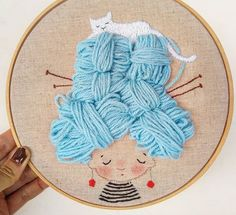 Little Treasures: Insta love: Anacardia Dolls – Handstickerei Embroidery Hoop Crafts, Hand Embroidery Patterns, Embroidery Art, Cross Stitch Embroidery, Quilt Patterns, Arte Punch, Cross Stitching, Textile Art, Sewing Crafts