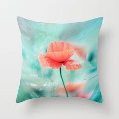 Fantasy Garden - Poppy Dream  Throw Pillow by SYoung.photography - $20.00
