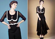 A nőies, lekerekített matrózgallérral ellátott fazonok a húszas-harmincas évek eleganciáját idézik.