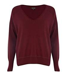 Dark red oversized jumper £25.00