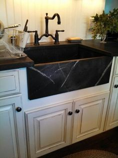 Delicieux Traditional Kitchen With Soapstone Counters, Stone Tile, Soapstone False  Front Apron Sink, Farmhouse Sink, One Wall, Flush | Kitchen Decor |  Pinterest ...