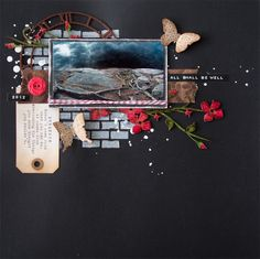 Layout I made for 1-2-3 Challenge blog (March challenge). By Elina Stromberg #scrapbooking
