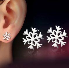 Pas cher 925 boucles d'oreilles en argent flocon de neige pour les femmes style coréen boucles d'oreilles amour petite amie anniversaire nouvelle année cadeau 0660, Acheter  Clous d'oreilles de qualité directement des fournisseurs de Chine:            Boucles d'oreilles taille environ 0.8 cm x 0.8 cm                      livraison gratuite----- par china