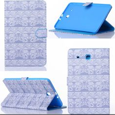 "Luxury Samsung Galaxy Tab 9.6"" Colorful Designs PU Leather Protector Tablet Case 10 Styles"
