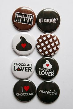 I Love Chocolate Flair by aflairforbuttons on Etsy, $6.00