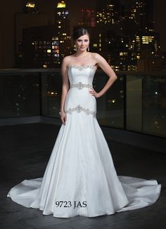 Love this stunning Justin Alexander gown with sparkles to capture the eyes of every guest - Sacramento Wedding Gowns and Dresses - Best Wedding and Bridal Boutique
