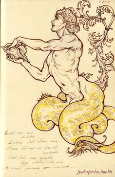 Fyodor Pavlov - The devil about gold ink is that it never looks as good in the scan as it does on paper. And my new sepia pens. Art Sketches, Art Drawings, Character Art, Character Design, Illustration Art Nouveau, Foto Portrait, Mermaids And Mermen, Gold Ink, Gay Art