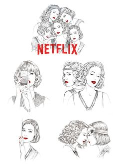 Las chicas - Popular Netflix Movies,Series and Cartoons Suggestions Orphan Black, Atypical, Series Movies, Book Series, Grey's Anatomy, Supernatural, Tv Show Casting, Fanart, Wall Drawing