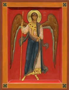 Possibly a Guardian Angel icon. Byzantine Icons, Byzantine Art, Religious Icons, Religious Art, Gabriel, Male Angels, Religious Paintings, Orthodox Icons, St Michael