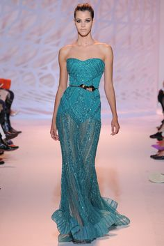 Zuhair Murad | Fall/Winter 2014 Couture Collection (Look 36 of 47) | Modeled by Pauline Hoarau | July 10, 2014; Paris, France