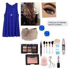 """""""Going to the final group dinner in Rome tonight!"""" by emily-wollan ❤ liked on Polyvore featuring TOMS, Kendra Scott, NARS Cosmetics, Maybelline, Charlotte Tilbury, MAC Cosmetics and Kate Spade"""