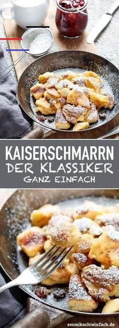 Kaiserschmarrn ganz klassisch - emmikochteinfach - My list of the best food recipes Great Recipes, Dinner Recipes, Healthy Recipes, Dessert Recipes, Pancake Healthy, Pancake Recipes, Crispy Roast Potatoes, Great Roasts, Food Porn